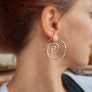 Grandes spirales argent THAÏ
