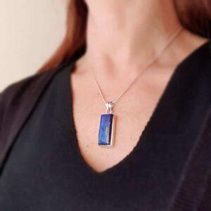 HARMONY silver lapis lazuli pendant