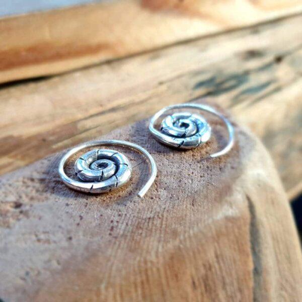 Petites spirales argent THAÏ