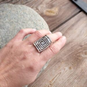 HYPNO adjustable silver ring