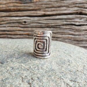 HYPNO adjustable silver ring
