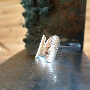 Einstellbarer Silberring SCHMETTERLING