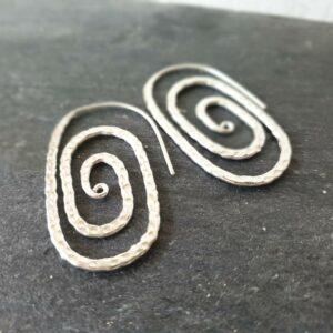 THAÏ große silberne Spiralen