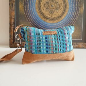 Blue OM Ethical Clutch Bag