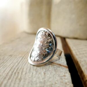 KAREN braided silver ring