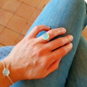 AQUA Chalcedon Ring
