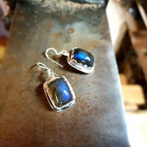 Bohochic labradorite earrings