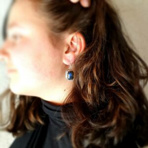 Boucles d'oreilles labradorite bohochic