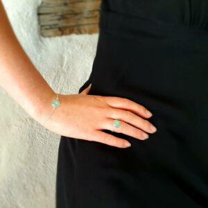 Bracelet chaîne calcédoine MILO