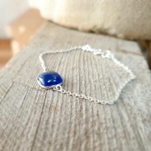 Bracelet chaîne lapis lazuli MILO