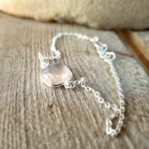 MILO rose quartz chain bracelet