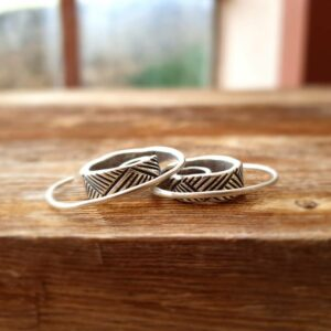 Silver ethnic hoops