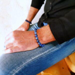 DEEP BLUE men's lapis bracelet