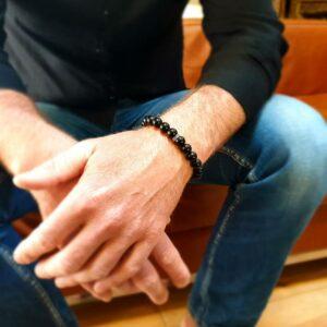 Men's bracelet in onyx KI