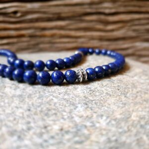 DEEP BLUE Lapislazuli Mann Halskette