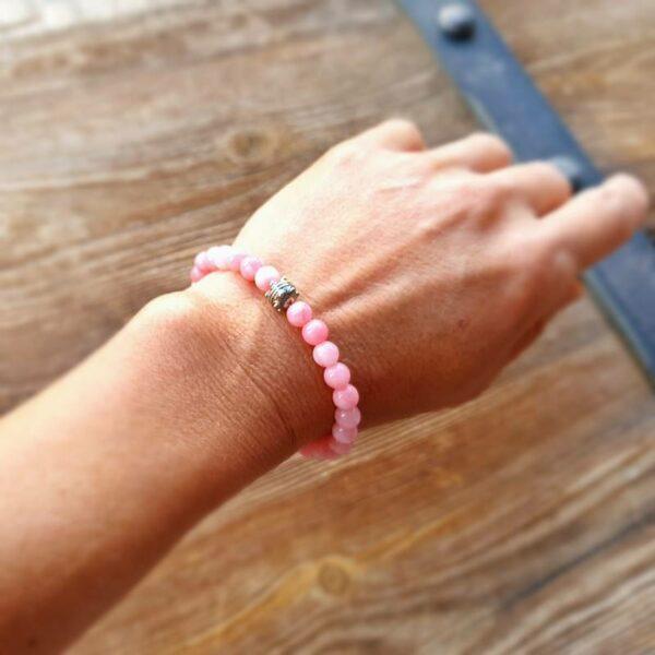 Mala Armband aus rosa Quarz