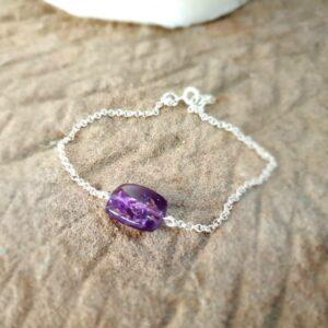Bracelet chaîne amethyste PICASSO