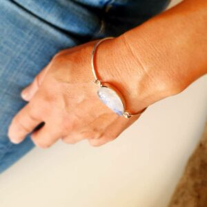 Bracelet pierre de lune argent VAGUE