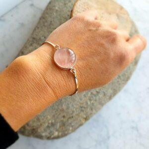 LOVE zilveren rozenkwarts armband