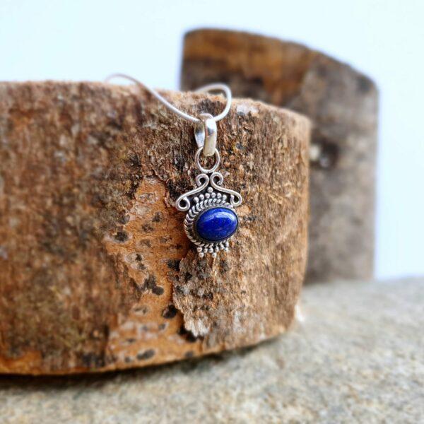 Pendentif lapis lazuli argent