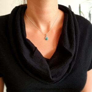 Pendente in argento con malachite