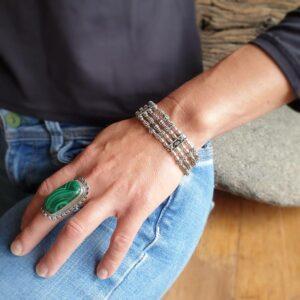 Bracelet indien en argent TIKA