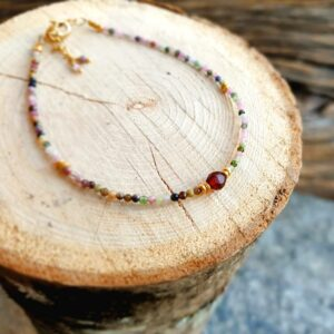 Bracelet tourmaline multicolore KI