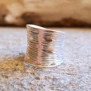 Grote verfijnde zilveren ring